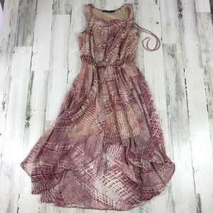 Doe & Rae ModCloth dress pink & cream size small